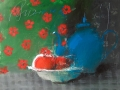 синій чайник 80x70см