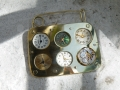 composition metal brooch 200