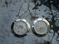 composition metal earrings 137