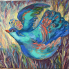 """Blue bird"". Paintings exhibition by Iryna Fartukh. 15th of March – 3th of April 2016"