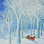 """Olha Kvasha """"December ride on horse"""". Book Illustrations, oil paintings. 24.11-13.12.2015"""