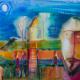Выставка Романа Опалинского. 3 — 22 ноября 2015 года. Живопись на стекле, акварель.