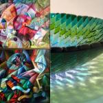 """Color transformations"" Ivan Turetskyi and Olga Turetska. Painting and glass. 2016.06.07 – 26"
